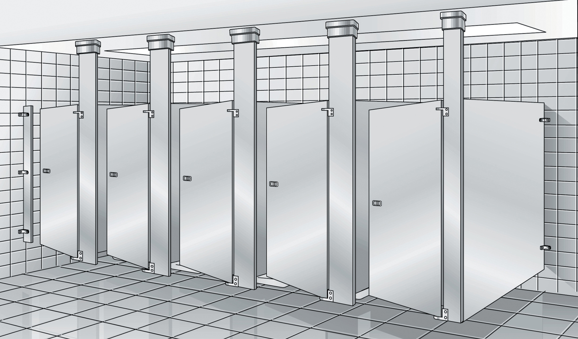 Bathroom Stall Installation Aragundemcom - Bathroom partition installers