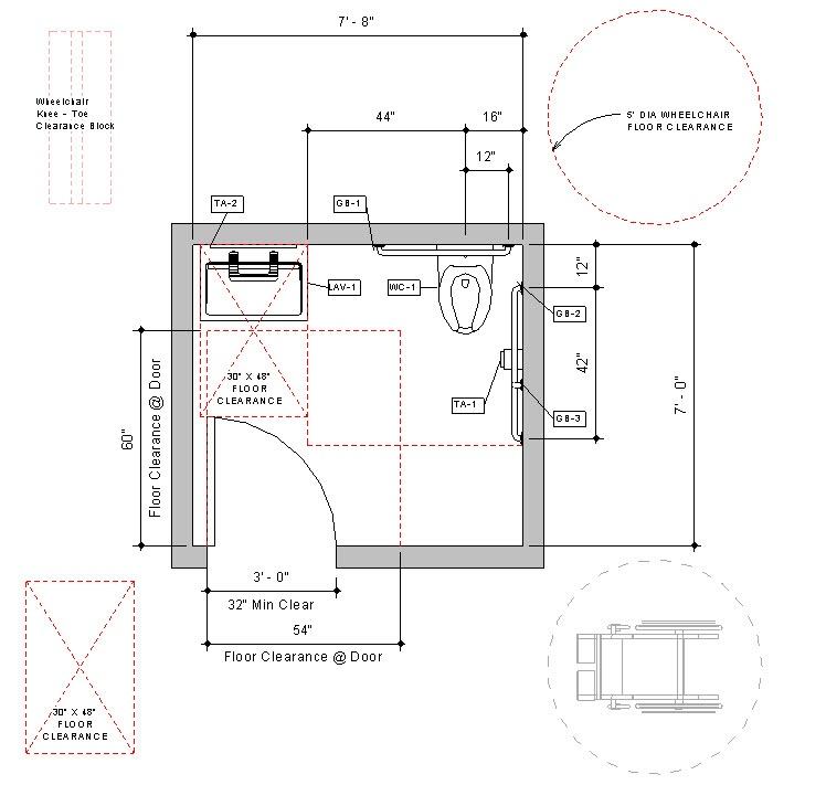 Download Prebuilt Revit Accessible Toilet Room Sample Model - Revit bathroom stall